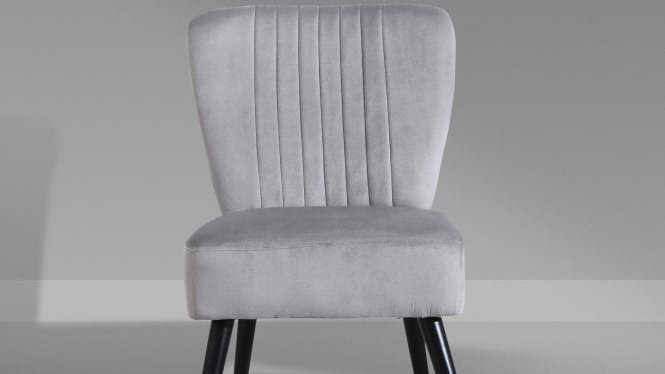 Scallop Grey Accent Chair