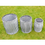 Thumbnail: Galvanised set of Planters