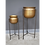 Thumbnail: Planter Stands in brushed gold metal