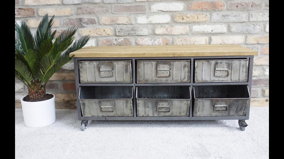 Retro Industrial Cabinet 3959