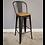 Thumbnail: Wood and  metal High back bar stool