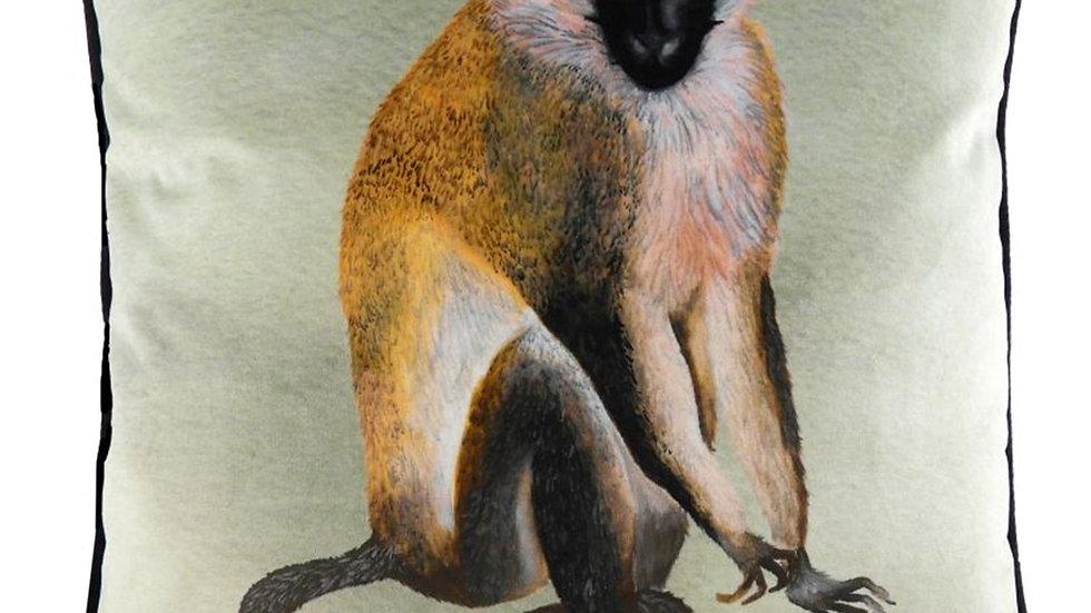 Monkey Cushion in Faux velvet