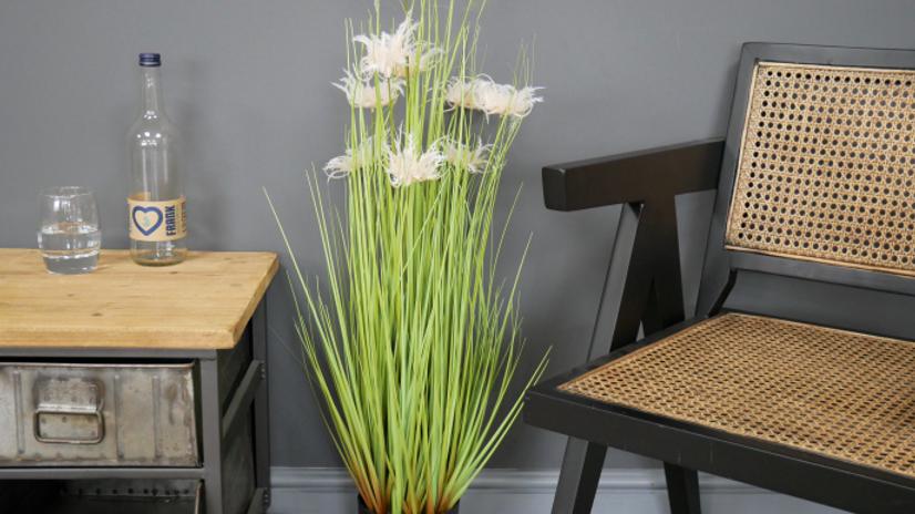 Artificial grass with flower