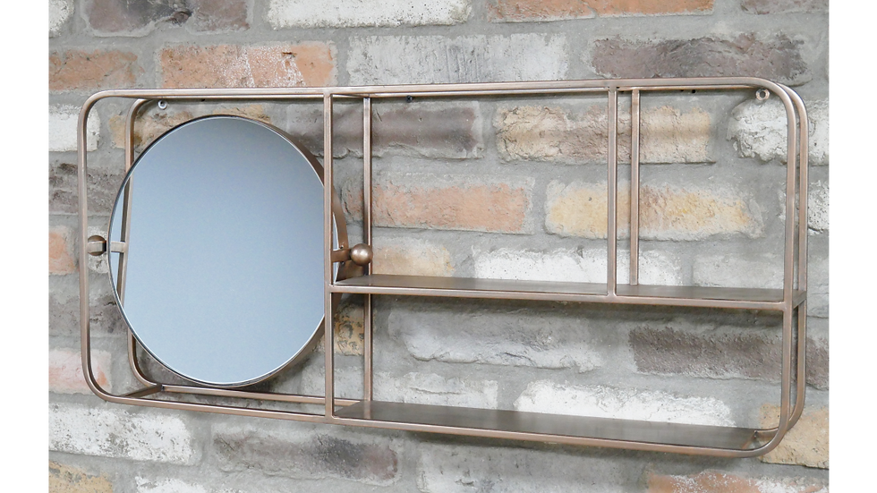 Copper  finish wall Unit Mirror