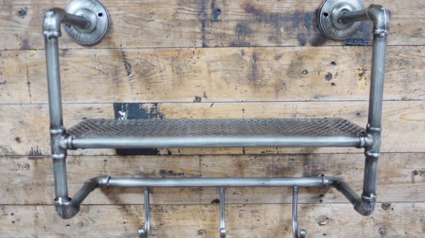 Industrial Shelf with Hooks 5054