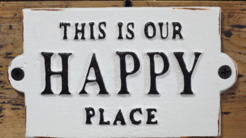 Happy Place iron sign 4875