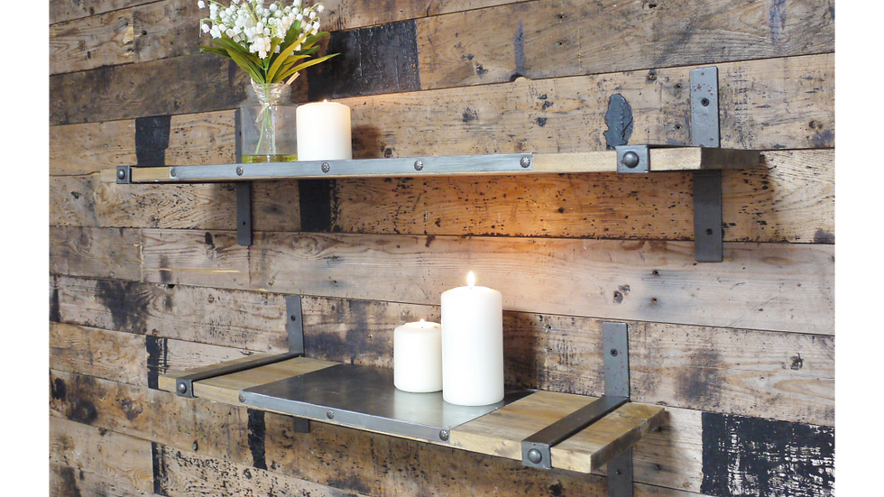 Industrial Shelving Display