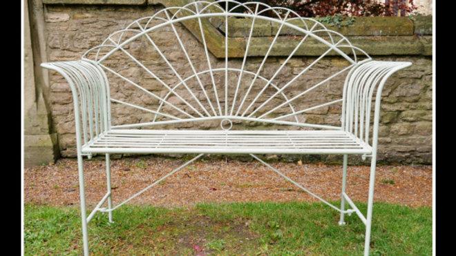 Vintage Sunrise bench pale green