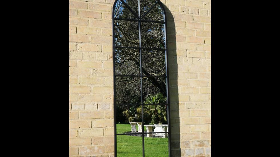 Black Metal Window Mirror