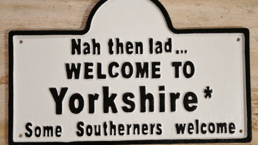 Yorkshire Sign  'nah then'