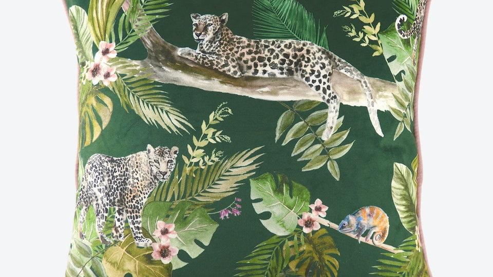 Jungle Leopard Piped 43cm Cushion