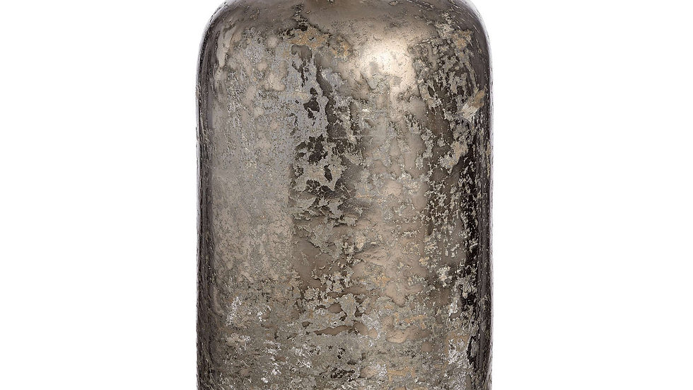 Mercury Glass Bottle Vase