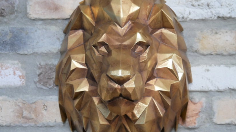 STUNNING Lions Head Wall Mounting