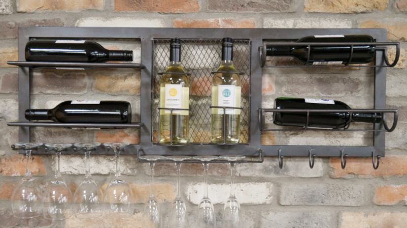 Bottle  and Glass Wall  Unit