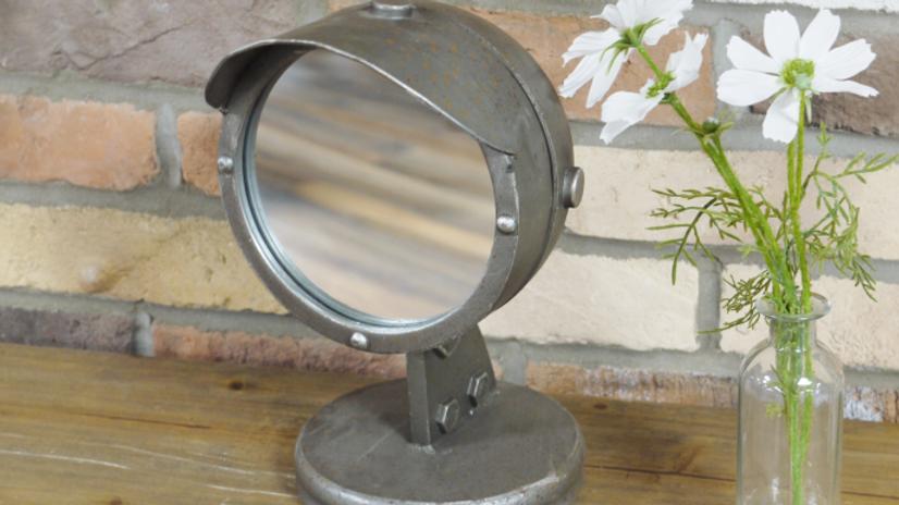 Industrial Standing Mirror