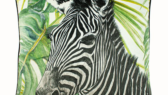 Zebra Jungle Complete Cushion