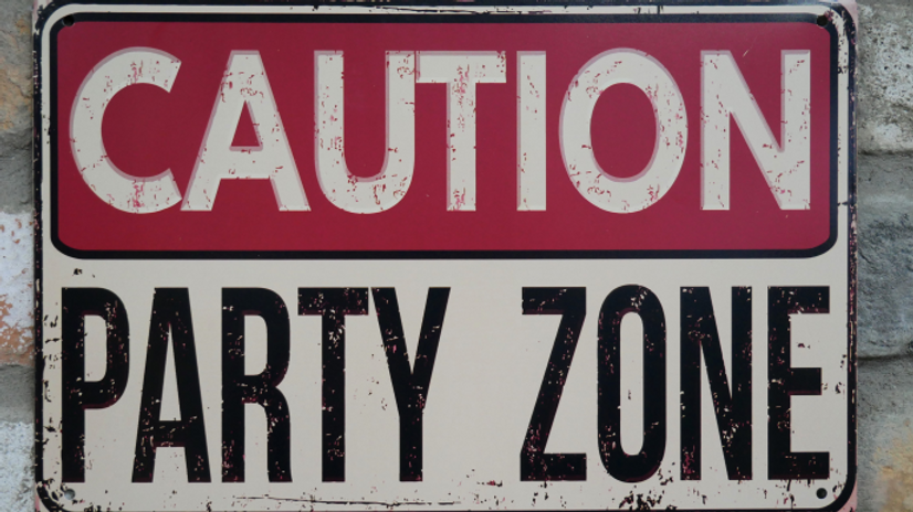 Metal Plaque Party Zone