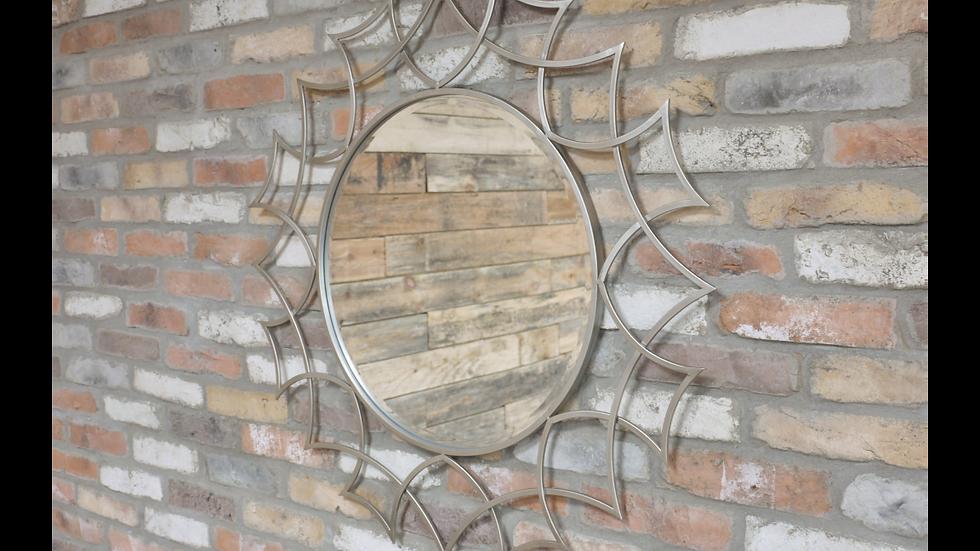 Metal Ornate Silver Mirror