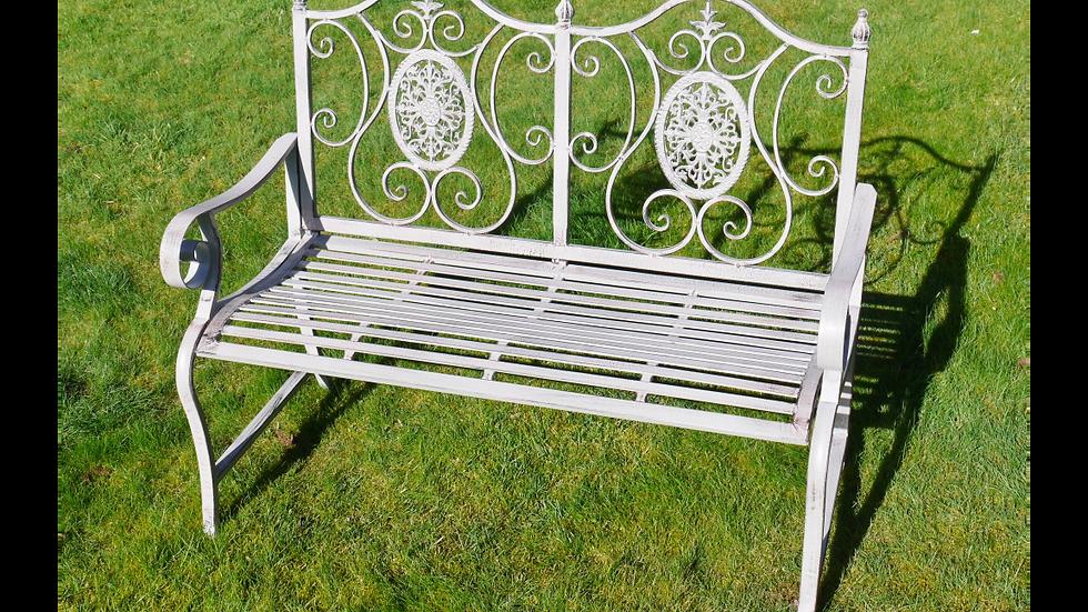 Vintage Grey Bench