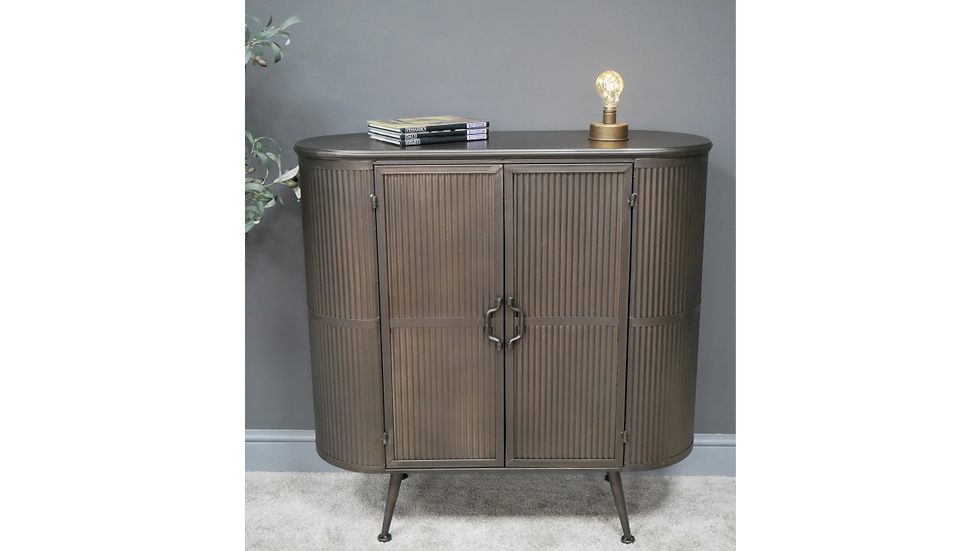 Curved Metal Cabinet 6718