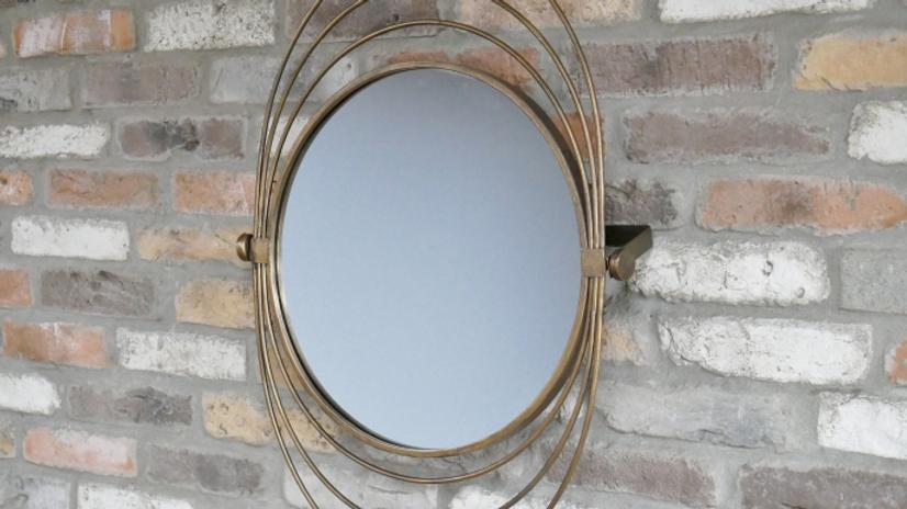 Swivel Halo Gold Mirror