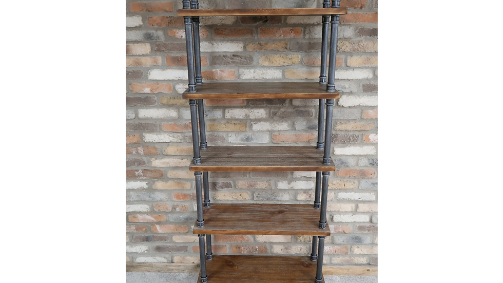 Free Standing display shelf, industrial effect