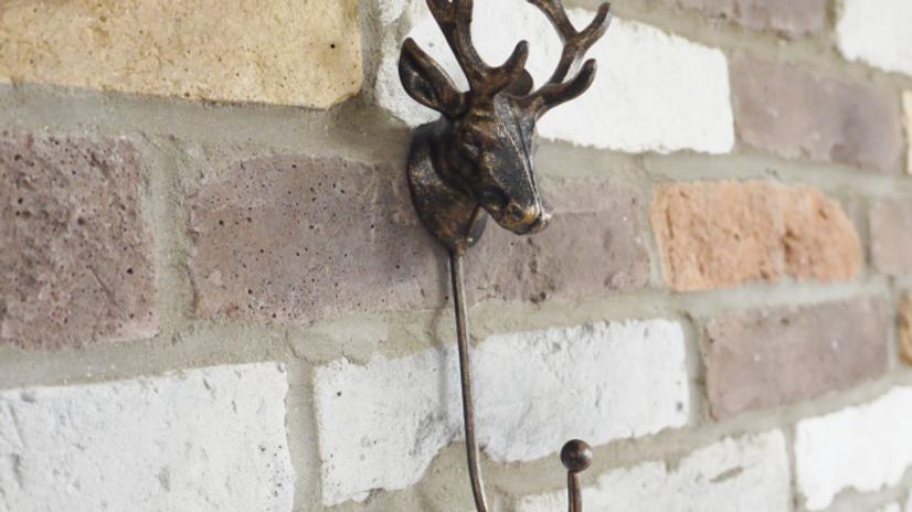 Bronze Metal  Stag Hook