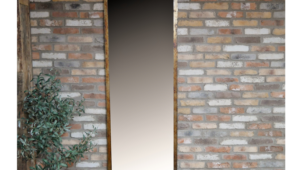 Floor length Industrial Metal Mirror