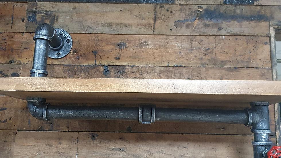 Industrial Style Wooden Display Shelf