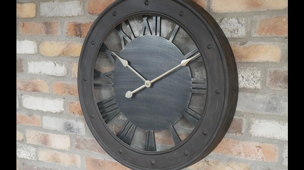 Industrial Glass Clock 6769