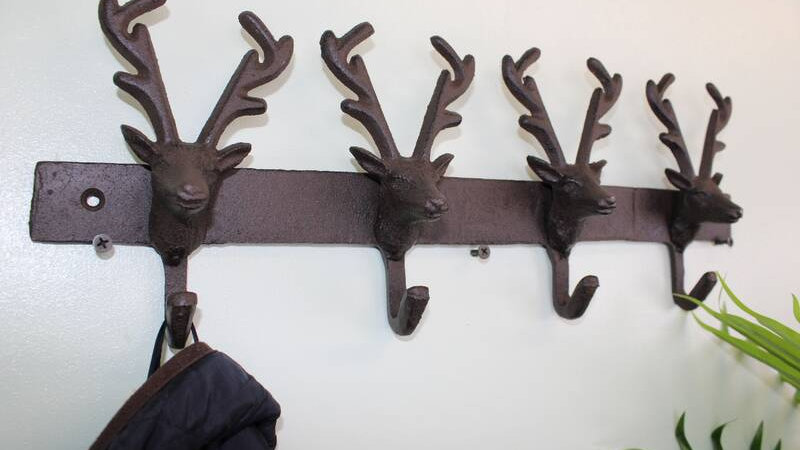Rustic Stag Coat Hook