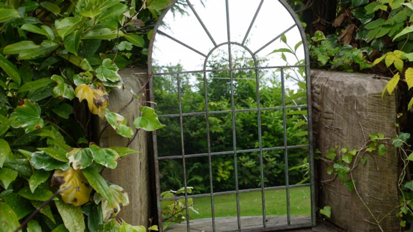 Arched Metal Garden Mirror 4207