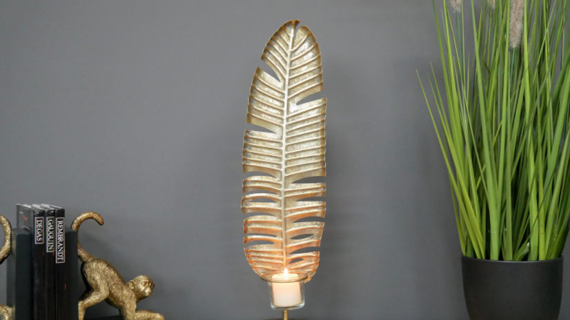 Leaf Shaped Candle Stand