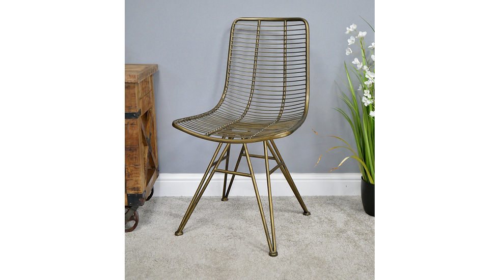 Gold Finish Industrial Chair