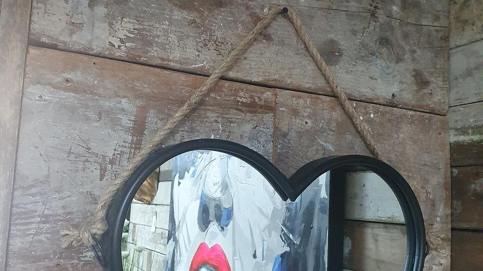 Heart Metal Mirror Rope Hanger