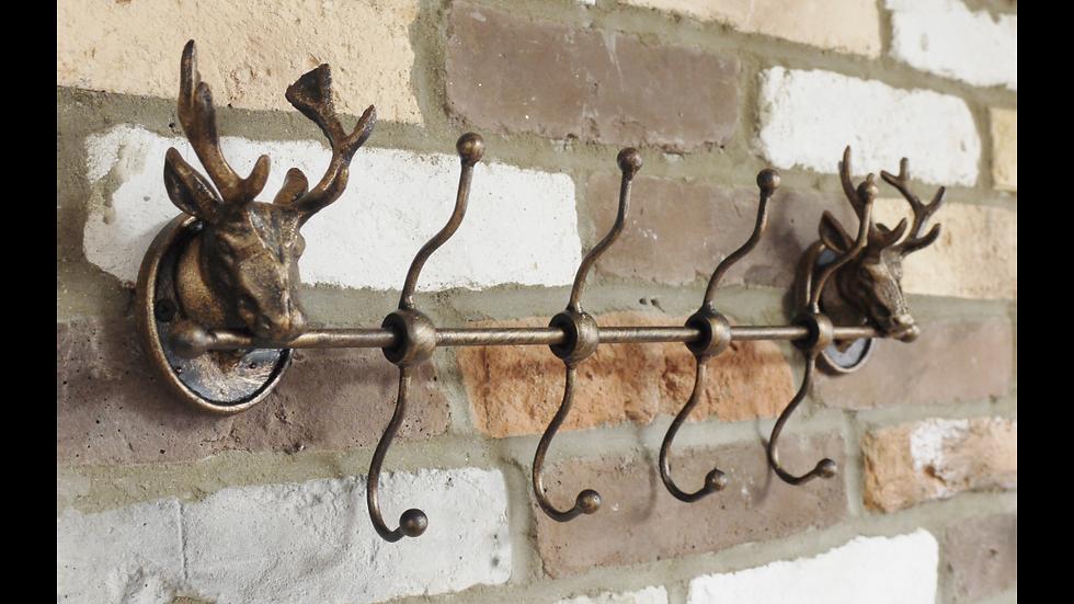 Bronzed Metal hook rack