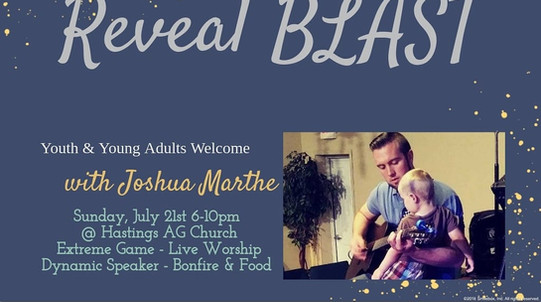 Reveal Youth & Young Adults Blast with guest speaker Joshua Marthe