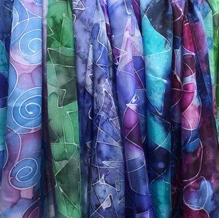 Böljande vacker textil