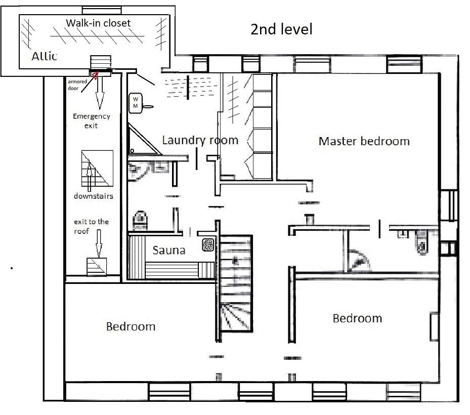 Аренда 6ти комнатной 2й уровень 300м2