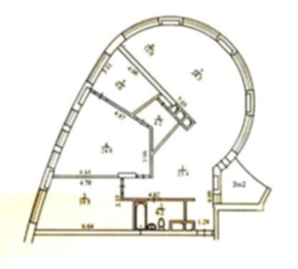 4-bedroom apartment for rent in Kiev center at 36v, Evgeniya Konovaltsa St