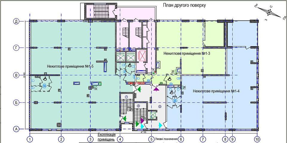 Продажа нежилог помещения 866м2 на втором этаже Антоновича 109