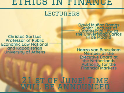 Lecture on Ethics in finance