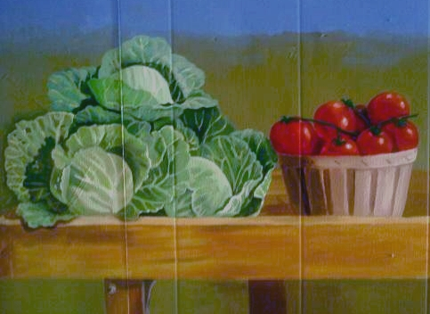Mural Cabbages and Tomatoes 2
