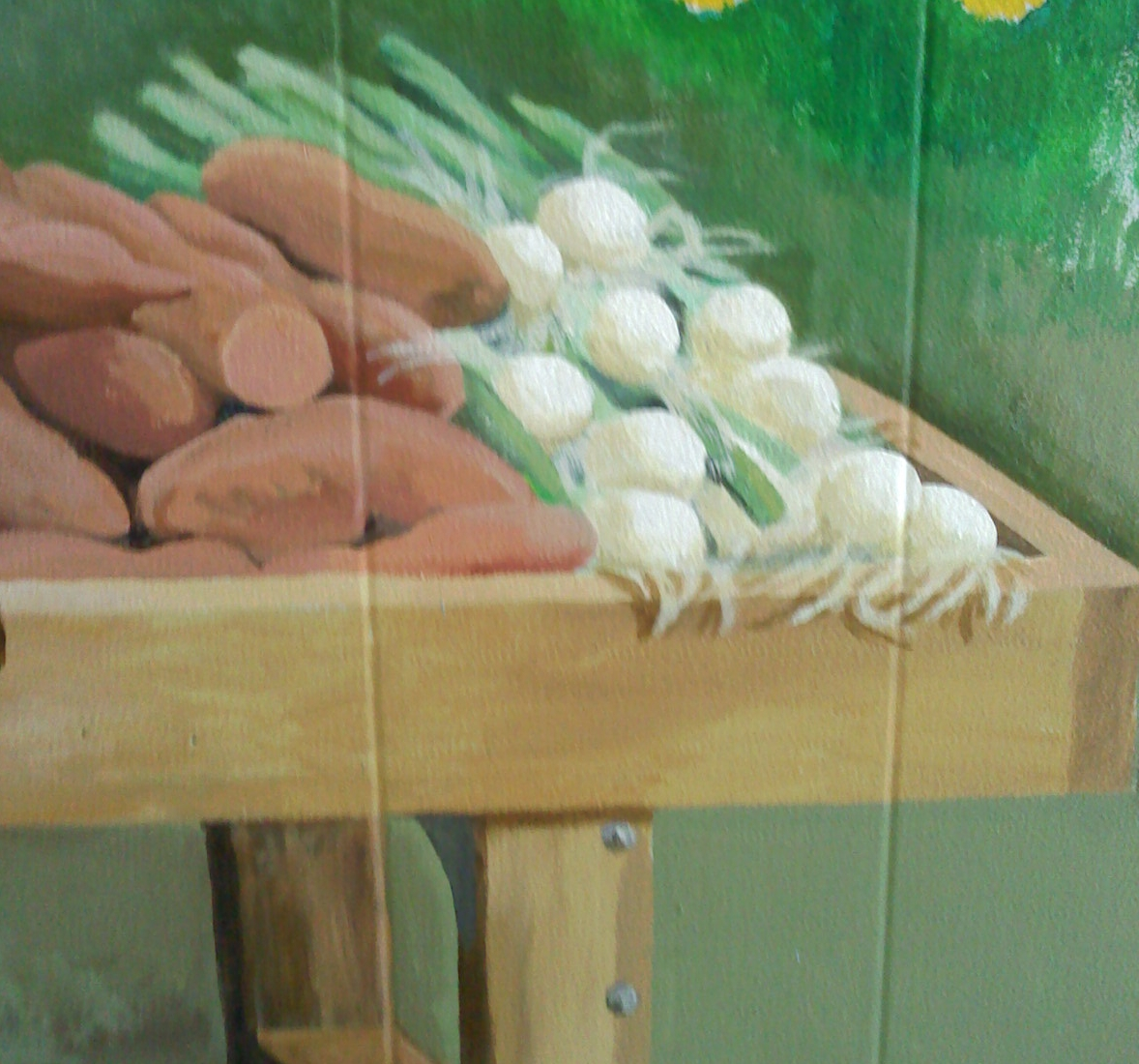 Mural Detail Sweet Potatoes & Onions