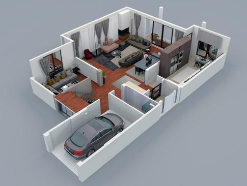 Grundrisse der Wohnung Referenzen 4