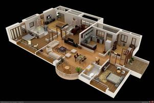 Grundrisse der Wohnung Referenzen 1