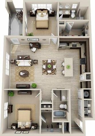 Grundrisse der Wohnung Referenzen 2