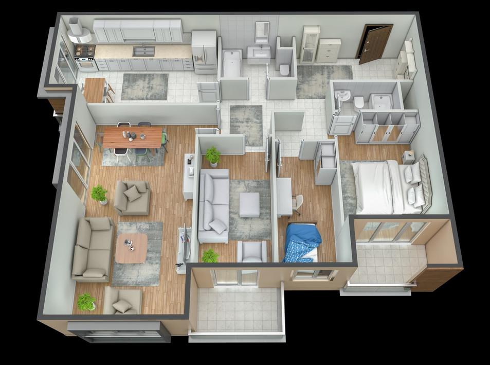 Grundrisse der Wohnung Referenzen 3