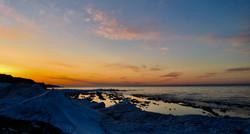 Coucher de soleil à Au Clair de la Mer
