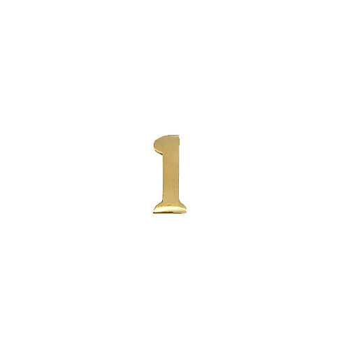 """#1 Self-Adhesive 2"""" inch Brass Number"""